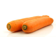 Two winter carrots Royalty Free Stock Photos