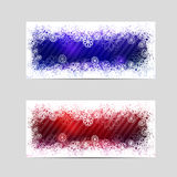 Two winter decorative banners Stock Photos