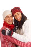 Two winter friends Stock Image