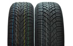 Two winter tires Stock Photography