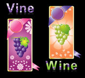 Two winy labels vector Royalty Free Stock Photography