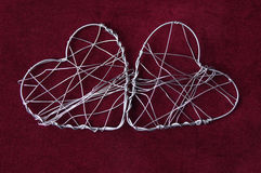 Two wire hearts Royalty Free Stock Photography