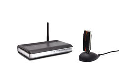 Two Wireless router Royalty Free Stock Image