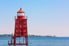 Two Wisconsin Lighthouses Royalty Free Stock Image