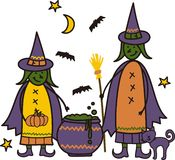 Two Witches Royalty Free Stock Photos