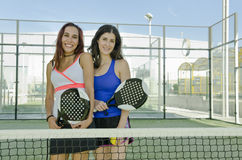 Two woan paddle tennis palyers Stock Images