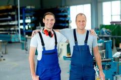 Two woker- good teamwork royalty free stock photos