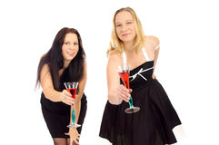 Two woman Royalty Free Stock Images