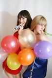 Two woman celebrating birthday Stock Photography