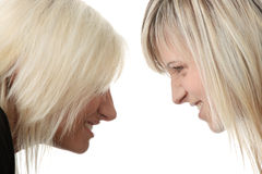 Two woman competition Royalty Free Stock Images