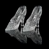 Two woman crystal shoes Royalty Free Stock Photo