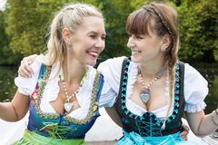 Two woman in dirndl Royalty Free Stock Photography