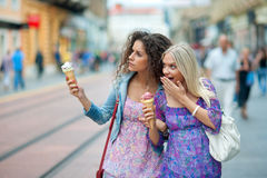 Two woman friends Royalty Free Stock Image