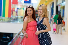 Two woman friends hanging out Stock Photo