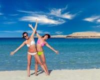 Two woman is having fun Stock Image