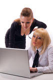 Two woman with a laptop Royalty Free Stock Photos