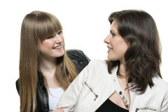 Two woman look each other Royalty Free Stock Photo