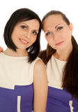 Two woman looking to the camera Stock Image