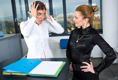 Two woman in office Stock Photo