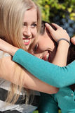 Two woman at park Royalty Free Stock Photo
