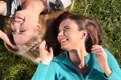 Two woman at park Royalty Free Stock Image