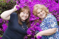 Two woman posing Royalty Free Stock Photos