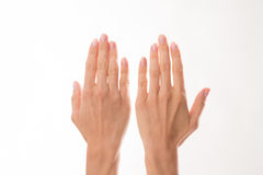 Two woman's hands Stock Photography