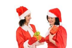 Two woman santa Royalty Free Stock Photos