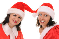 Two woman santa Royalty Free Stock Images