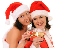 Two woman santa Royalty Free Stock Photography