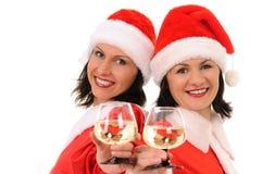 Two woman santa Stock Photography