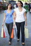 Two woman shopping Royalty Free Stock Photos