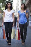 Two woman shopping Stock Photos