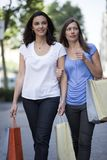 Two woman shopping Stock Photo