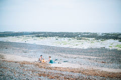 Two Woman in Shore during Daytime Stock Photo