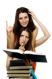 Two woman stydy new subject Stock Photo