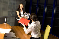 Two Woman Working Royalty Free Stock Photos