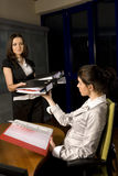 Two Woman Working Royalty Free Stock Photography