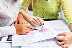 Free Two Woman Working On Statistic Royalty Free Stock Photo - 13053135