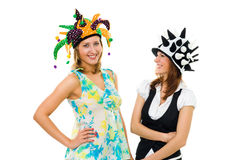 Two women actors Royalty Free Stock Photography