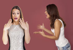 Two women arguing Royalty Free Stock Photos