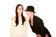 Two women as bride and groom Royalty Free Stock Photography