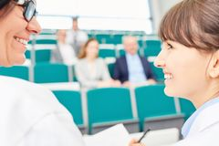 Two women as physicians Royalty Free Stock Image