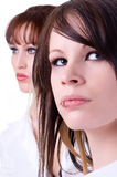 Two Women With Attitude Royalty Free Stock Images