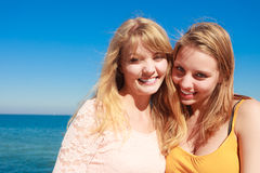 Two women best friends having fun outdoor Royalty Free Stock Photography