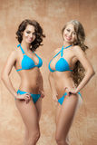 Two women in bikini Royalty Free Stock Photos