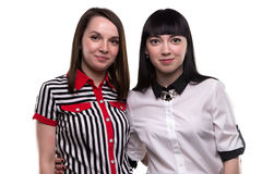 Two women - business associate. On white background stock images