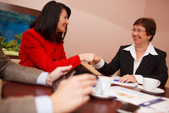 Two women in a business meeting Royalty Free Stock Photo