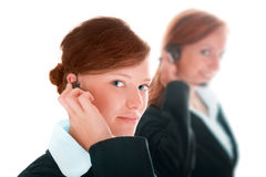 Two women call center Royalty Free Stock Image