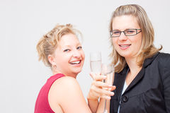 Two women celebrate success Stock Photography